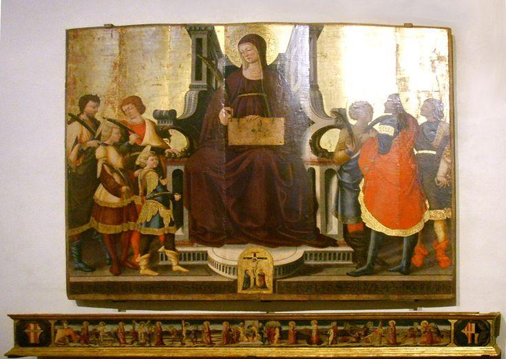 Santa Felicita, Neri di Bicci, Santa Felicita e i suoi sette figli, con predella (1464) - Category:Neri di Bicci - Wikimedia Commons. Санта Феличита и ее семеро детей в пределле (1464)