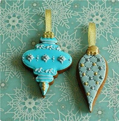 Красивое печенье в виде сосулек