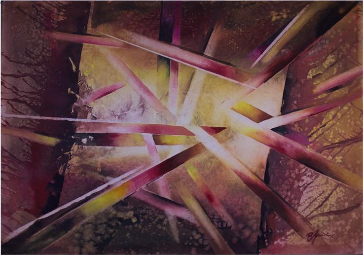 'Playing' by Benjaminas. Medium: Watercolour. Fine Art Supplier - Drai Fine Art.