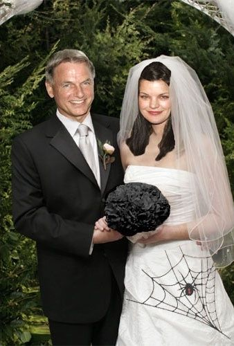 pauley perrette wedding photos | Favourite (Mark Harmon and Pauley Perrette) Pauley in a White Wedding ..