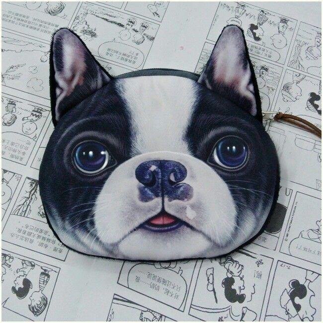 Borsellino x spiccioli a forma di bulldog francese.  5 euro