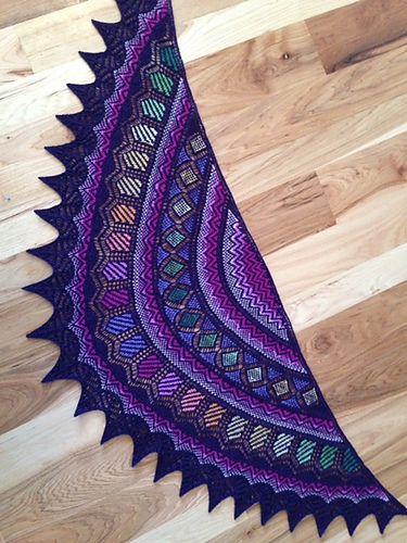 Kieran Foley's work is always immediately recognizable and gorgeous! Ravelry: Lotus Crescent pattern by Kieran Foley