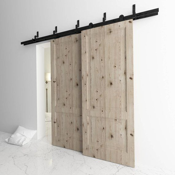 5 16ft Bypass Doors Sliding Barn Door Hardware Kit T Shape Z Glass Barn Doors Bypass Barn Door Double Barn Doors