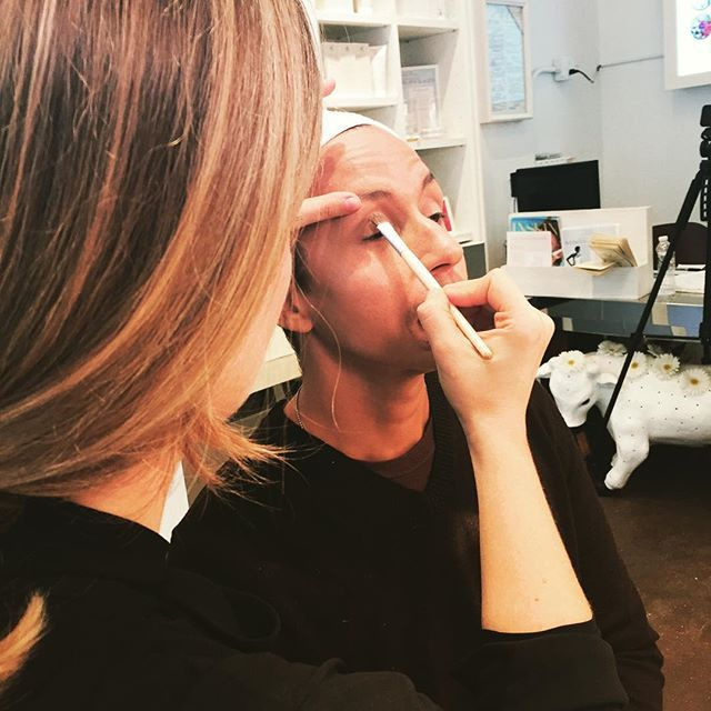 #makeup tests today with @jessarnaudin and #jomamajones for the show @joespub starting Thursday! #stagemakeup #behindthescenes #hypoallergenic #allergenfree