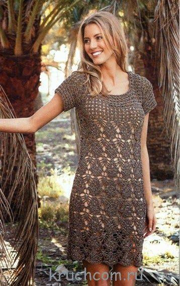 Crochetemoda: Crochet Dress