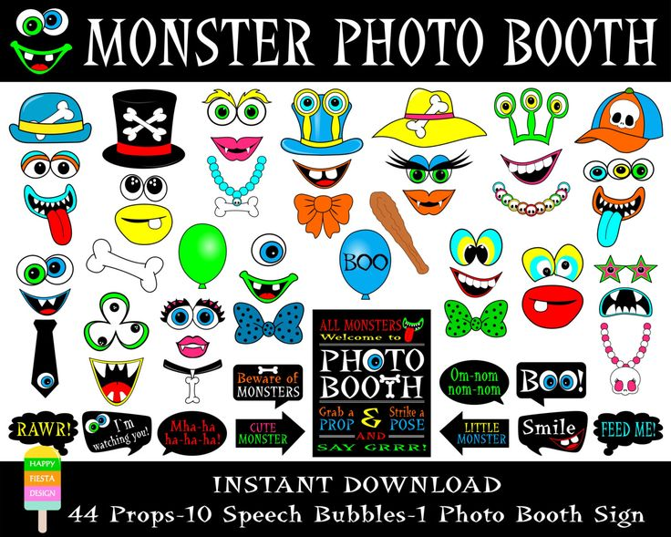 PRINTABLE Monster Photo Booth PropsMonster Photo Booth