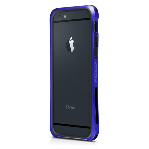 "Macally Flexible Protective Case Bumper (IRONP6M-BL) Blue (iPhone 6-4.7"") - myThiki.gr - Θήκες Κινητών-Αξεσουάρ για Smartphones και Tablets - Macally IronRim Blue"