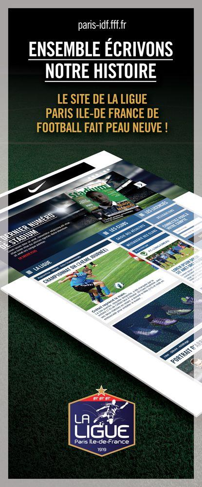 Le nouveau site de la Ligue de Paris Ile-de-France de football #football #social