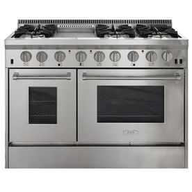 Aga Professional 48-In 6-Burner 4.2-Cu Ft / 2.5-Cu Ft  Double Oven Convection Gas Range (Stainless Steel)