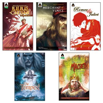 THE WILLIAM SHAKESPEARE COLLECTION  The Great Writer William Shakespeare's collection of 5 Novels.  1. Julius Caesar 2. The Merchant of Venice 3. Romeo and Juliet 4. The Tempest 5. Macbeth  Buy Now: http://ocomics.com/product-category/comics/campfire/  #campfire #graphic #novels #ocomics #william #shakespeare