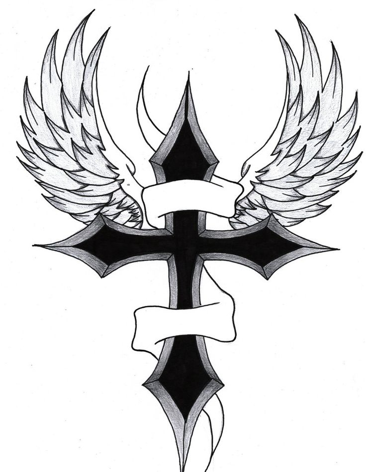 Cross With Wings By Purpleaf On DeviantART