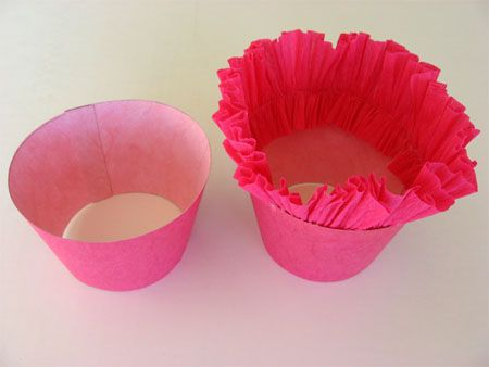 cute idea to dress up a cup for mother's day pot