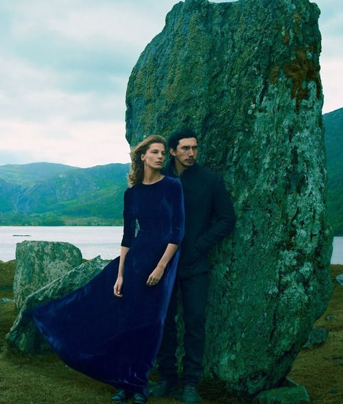 "Daria Werbowy and Adam Driver in ""Wild Irish Rose"" by Annie Leibovitz for Vogue, September 2013"