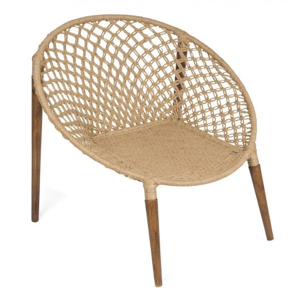 Jute Woven Occasional Chair (1.020 RON) ❤ liked on Polyvore featuring home, furniture, chairs, accent chairs, occasional chairs, woven furniture, woven chair and weave chair