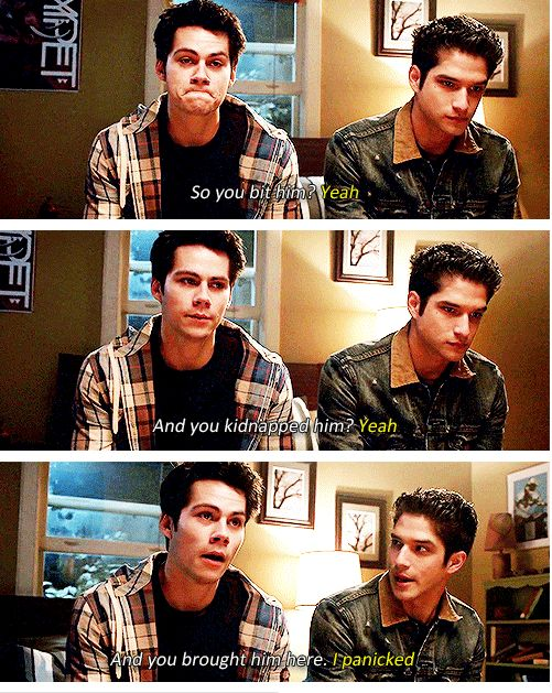 #TeenWolf #4x04 #TheBenefactor I love this show so much <3 team Supernatural. (And stiles)