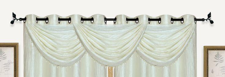 Sherry Crushed Satin Curtain Valance