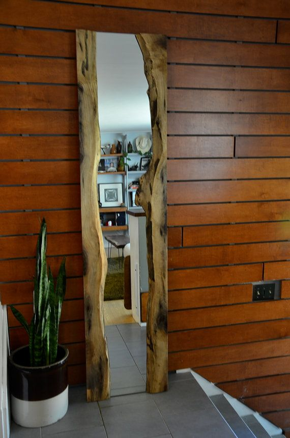 Black Walnut Live Edge River Mirror by GreatLakesCo on Etsy