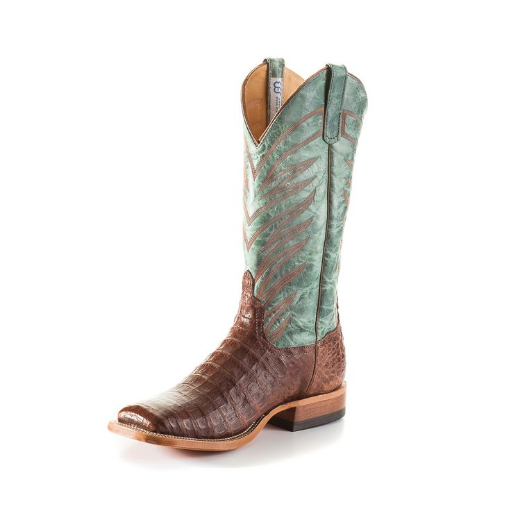 Anderson Bean Men's Tabacco Caiman Belly Cowboy Boots - HeadWest Outfitters