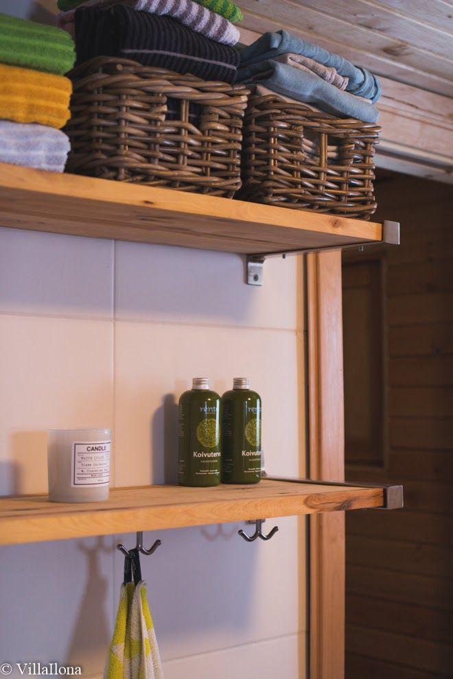 VILLA ILONA: Mökin kylpyhuone ja sauna - edullinen remontti   Bathroom and sauna - affordable renovation