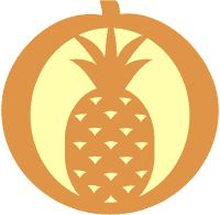 Pineapple pumpkin carving pattern