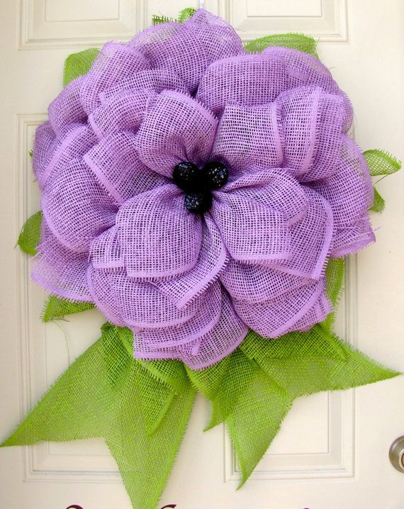 Lavender Summer Fun Paper Mesh Indoor Flower by NicoleDCreations, $55.00