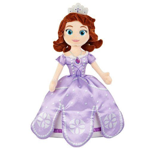 Sofia the First 18 inch Cuddle Doll Soft and Cuddly sleeping pillow. Pillowtime Pal can be used as a sleeping buddy and is made from soft pillow-like materials. 100-Percent polyester.