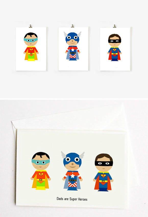 Día del Padre bricolaje - Papá del superhéroe Imprimibles porción Funkytime