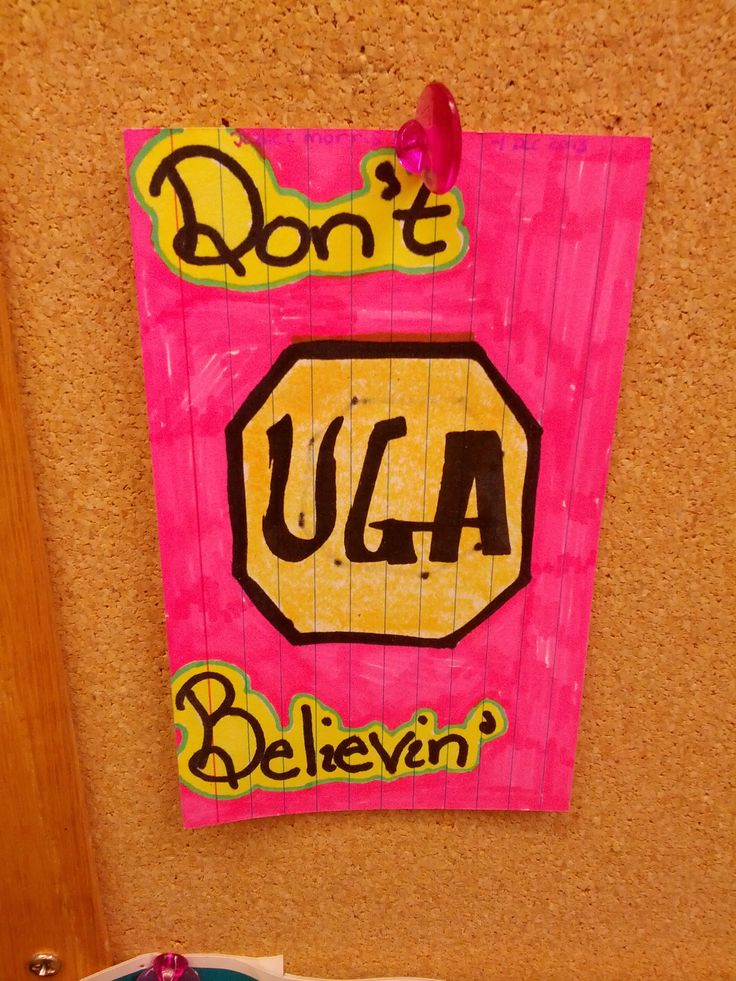 For you non-scientists out there, UGA is the stop codon for translation during the formation of DNA.