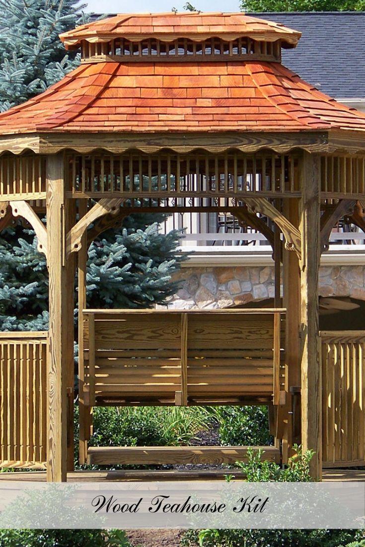 Wood Teahouse In 2020 Rustic Outdoor Decor Outdoor Gazebos Tea