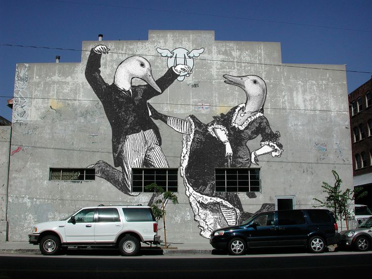 Aylesbury Duck Wall Mural, Dancing Ducks, South LA. By United Creatives.