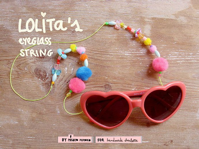 Here's a super fun DIY necklace to hold you summer shades!
