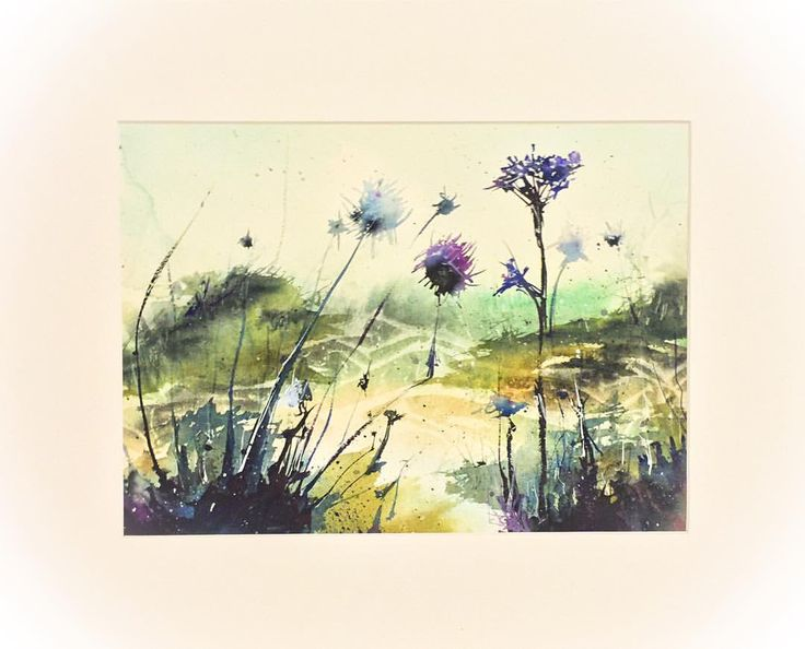 Thistle garden #Thistle #abstract #abstractart #abstractartwork #fantasy #colourful #colorful #watercolor #watercolour #watercolorartist #watercolourartist #paint #painter #painting #art #artist #watercolorart #watercolourart #watercolourpaint #artoftheday #aquarell #aquarelle #waterblog #inspiring_watercolors