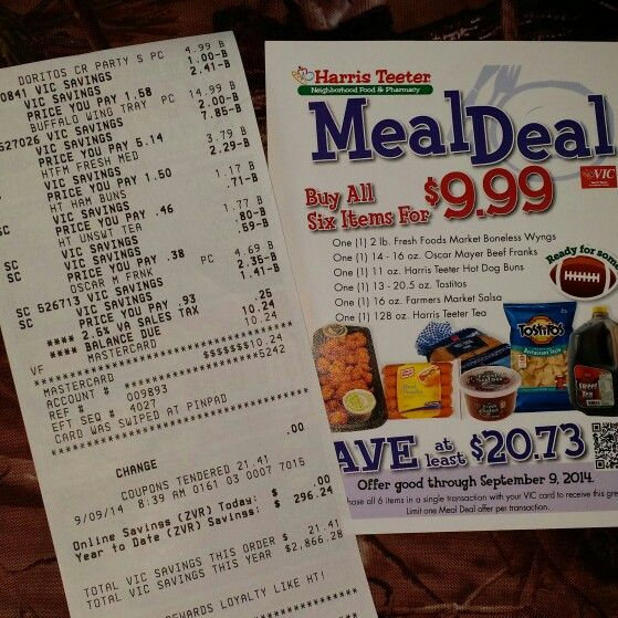 Got my last meal deal — at Harris Teeter. #nocouponsused #mealdeal