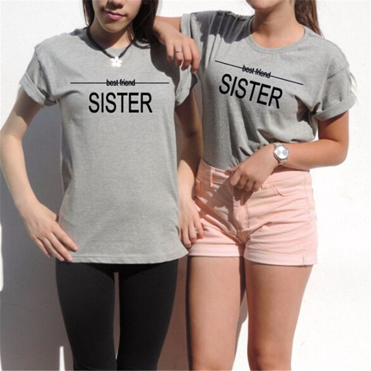 Summer top t-shirt Women Sexy Best friends t shirt Gift unbiological sisters Tumblr Tee top Casual Gray T Shirt 1pcs T-F10962