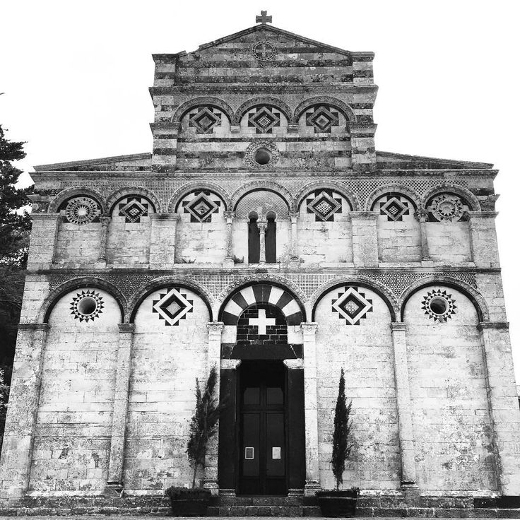 Here is the beautiful and simple Romanesque Church of San Pietro Di Sorres in…