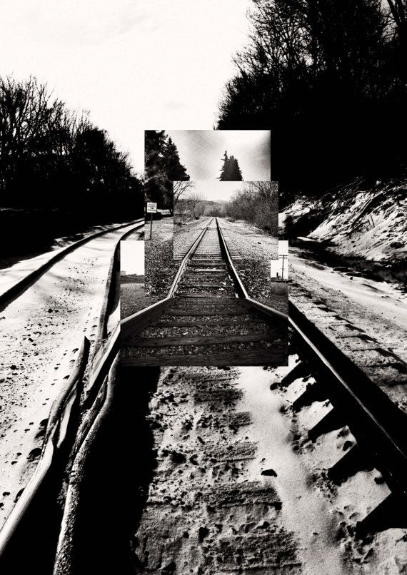 Intersecting Railroads III  Digital Collage print  by Posterium, $15.00