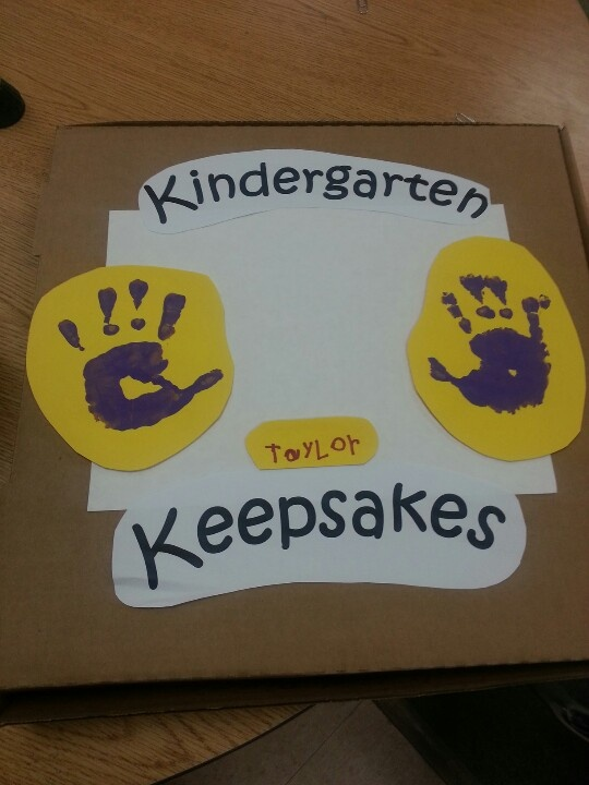 Kindergarten Keepsakes... Used For Gifts To Parents At Open House To Keep  Special