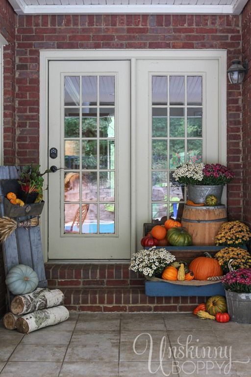 giles and brother jewelry Fall Porch Decorating Ideas