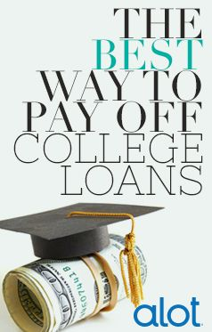 Stop drowning in #debt from your #collegeloans - here's the best way to get them paid off right now