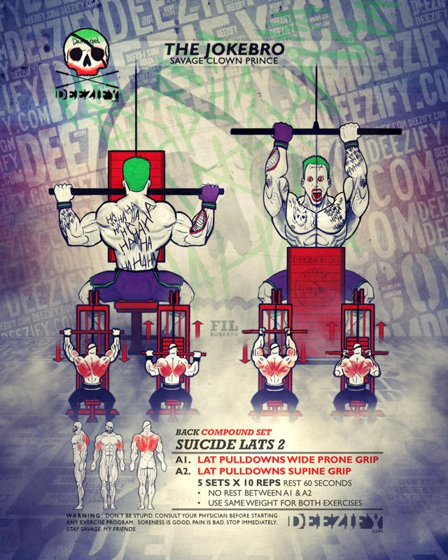 back compound set: lat pulldowns - joker