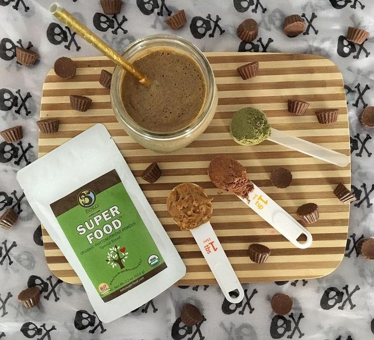 #HappyHalloween from all of us at #BokuSuperfood! We thought today was the perfect day to make a superfood shake that tastes just like candy! Click the link in our Instagram bio for our Peanut Butter Cup Shake Recipe. #halloweentreat #linkinbio