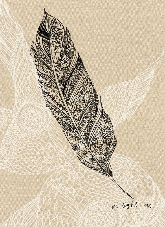 : Tattoo Ideas, Feathers Art, Art Prints, Illustration, A Tattoo, Feathers Tattoo, Feather Tattoos, White Ink, Drawing