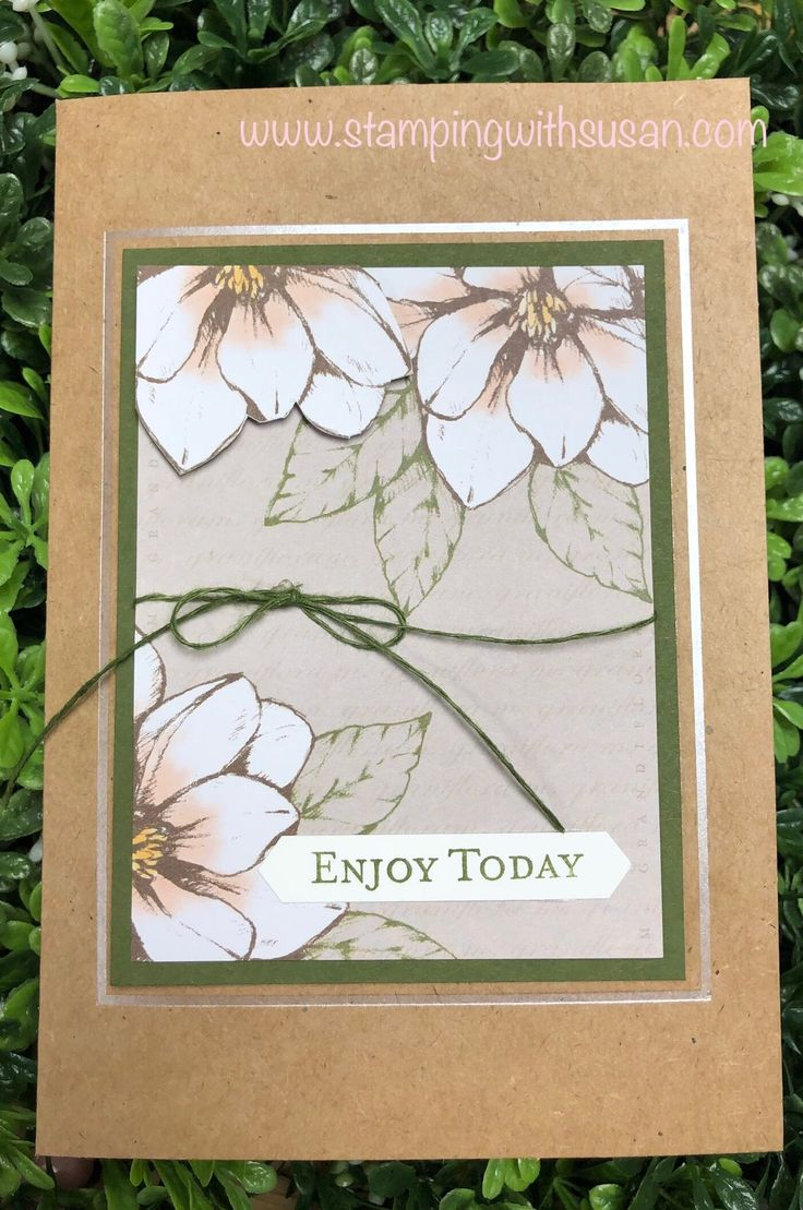 Stampin Up Magnolia Lane Card Pack Magnolia Lane border=