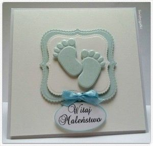 Kartka z okazji narodzin maleństwa z błękitnymi stópkami (1)