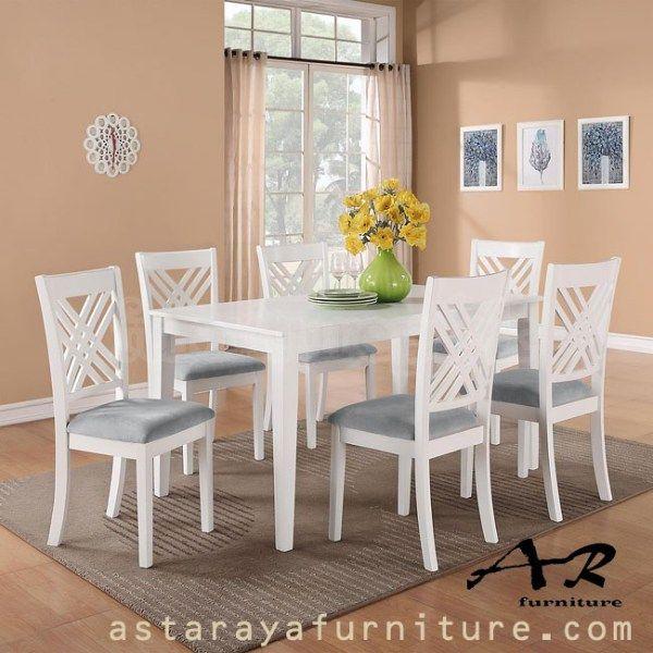 Set Meja Makan Minimalis Duco Putih Furniture