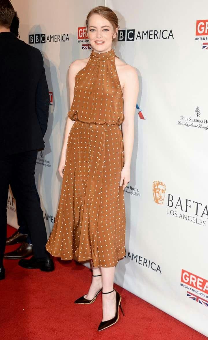 Emma stone at bafta tea party