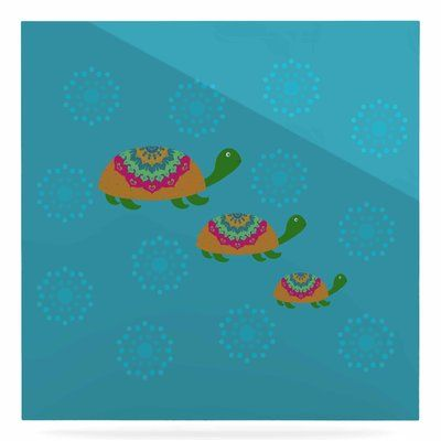 "East Urban Home 'The Turtles' Graphic Art Print on Metal Size: 10"" H x 10"" W x 1"" D"