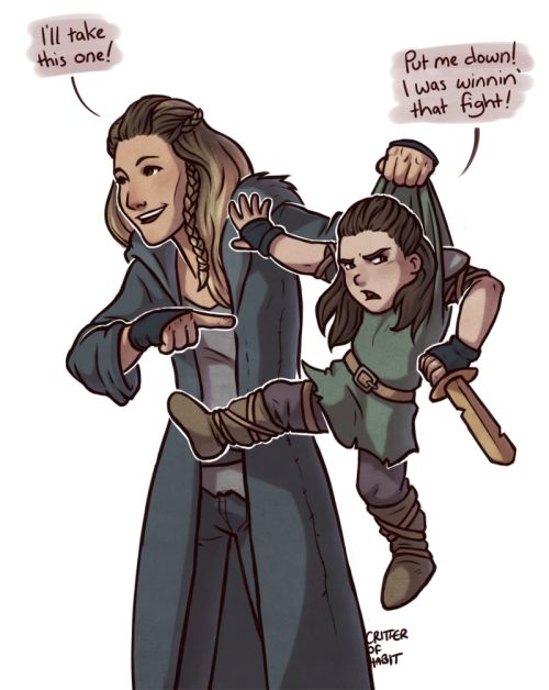 I'm sure there is actually some traditional ceremony or something that Grounders have to match warriors up with their seconds, but I like to think it's more like picking out a puppy.  Or maybe just in Anya and Lexa's case.