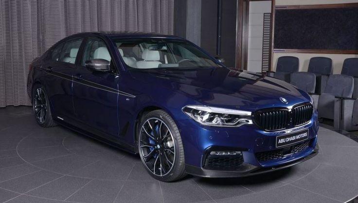 BMW 540i xanh Địa Trung Hải toả sáng trong bộ kít carbon từ M Performance