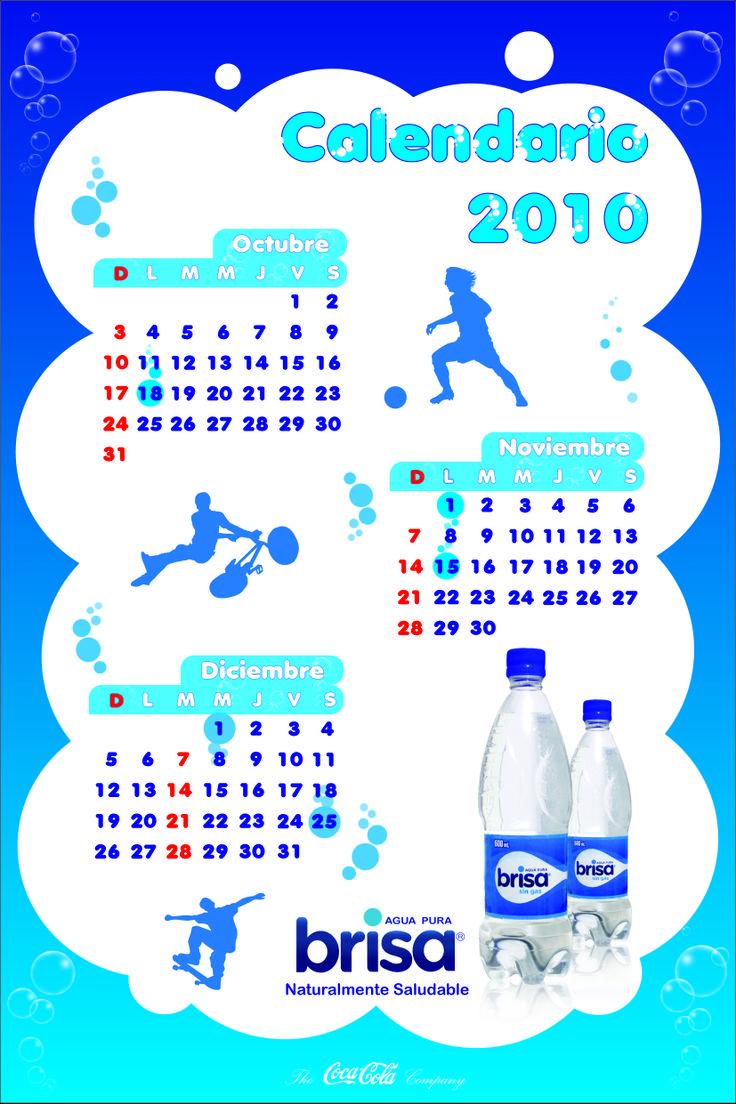 Calendario Trimestral. Cliente: Agua Brisa